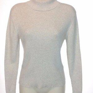 Talbots Beige Cotton Turtleneck Sweater - Petite S